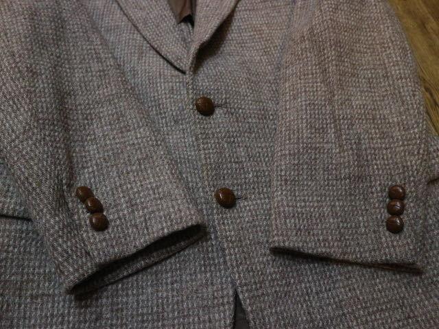 70s~ USA製 Harris Tweed STAFFORD ウール テーラード ジャケット ハリスツイード スタッフォード ブレザー_画像3