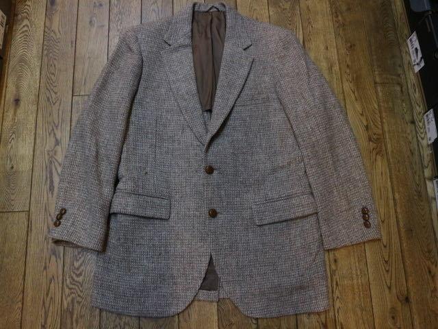 70s~ USA製 Harris Tweed STAFFORD ウール テーラード ジャケット ハリスツイード スタッフォード ブレザー_画像1