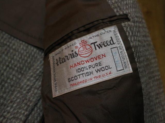 70s~ USA製 Harris Tweed STAFFORD ウール テーラード ジャケット ハリスツイード スタッフォード ブレザー_画像5