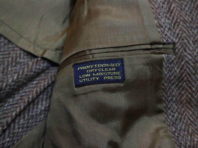 70s~ USA製 Harris Tweed ウール テーラード ジャケット ハリスツイード ブレザー_画像7