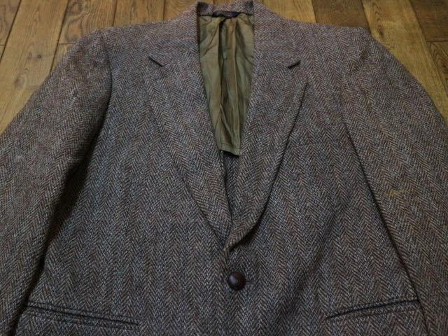 70s~ USA製 Harris Tweed ウール テーラード ジャケット ハリスツイード ブレザー_画像2