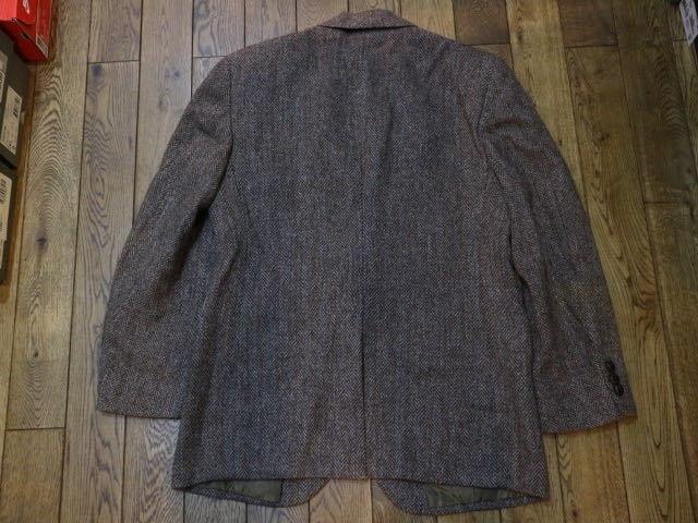 70s~ USA製 Harris Tweed ウール テーラード ジャケット ハリスツイード ブレザー_画像8