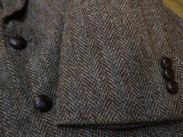 70s~ USA製 Harris Tweed ウール テーラード ジャケット ハリスツイード ブレザー_画像3