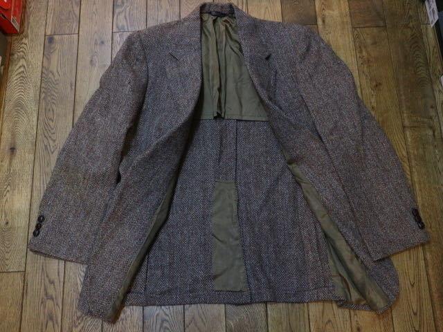 70s~ USA製 Harris Tweed ウール テーラード ジャケット ハリスツイード ブレザー_画像4