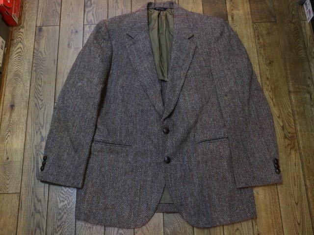70s~ USA製 Harris Tweed ウール テーラード ジャケット ハリスツイード ブレザー_画像1