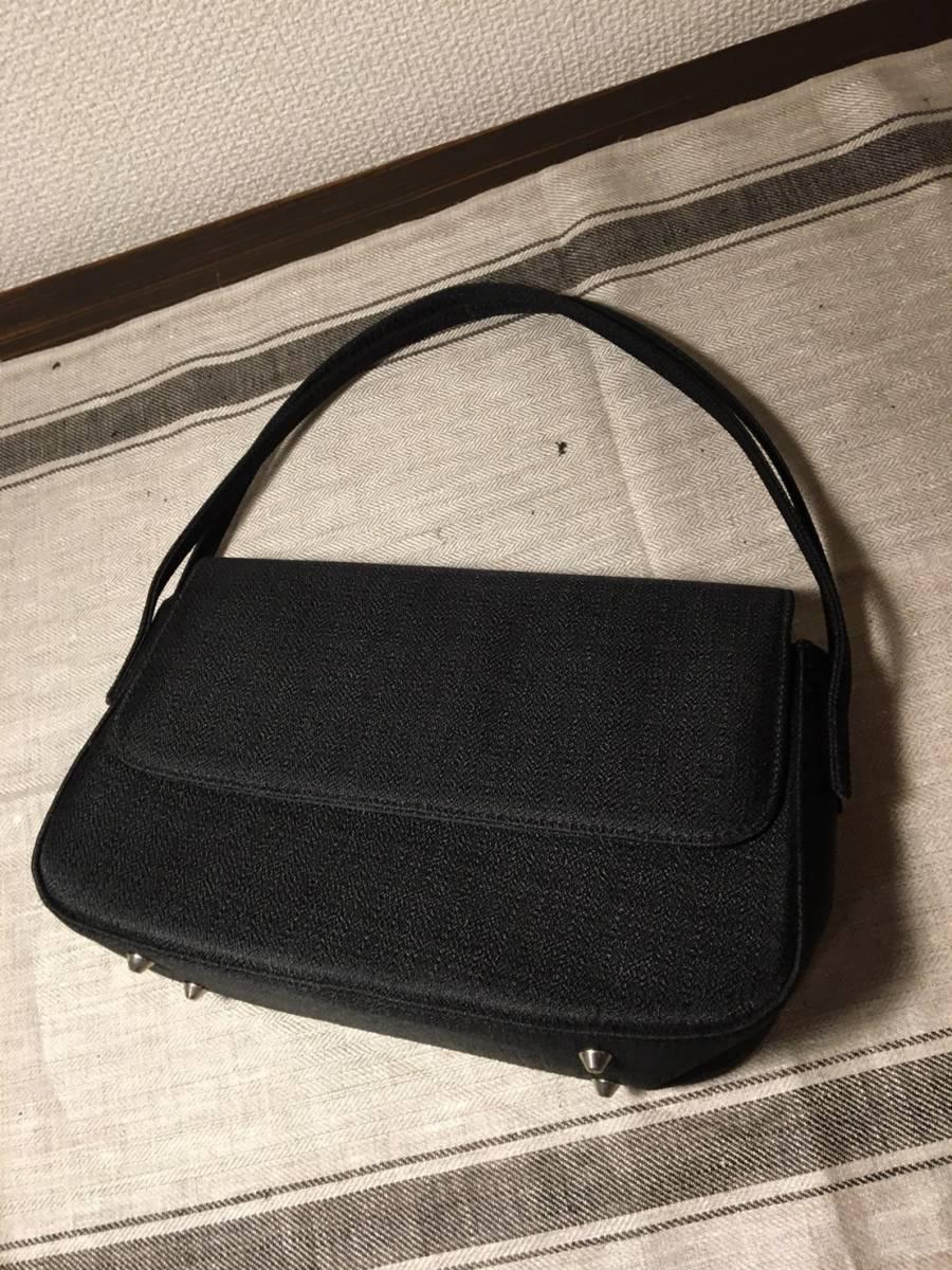 【冠婚葬祭に】 ★ ノーブランド ★ フォーマルバッグ 布 ブラック 未使用品 ブラックフォーマル