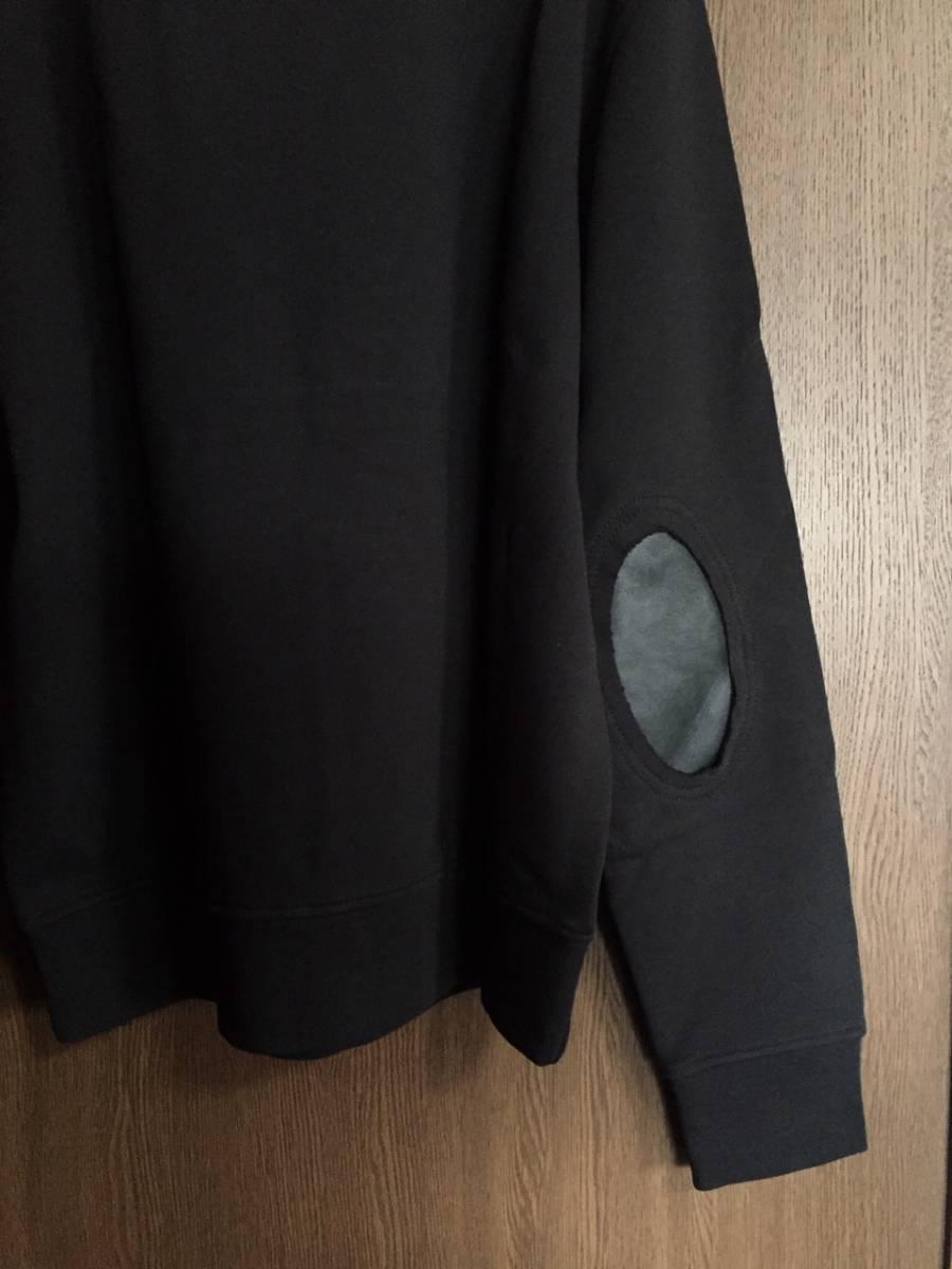 19AW新品50 メゾンマルジェラ エルボーパッチ スウェット シャツ size 50 黒 L Maison Margiela 14 マルジェラ メンズ オールブラック_画像4