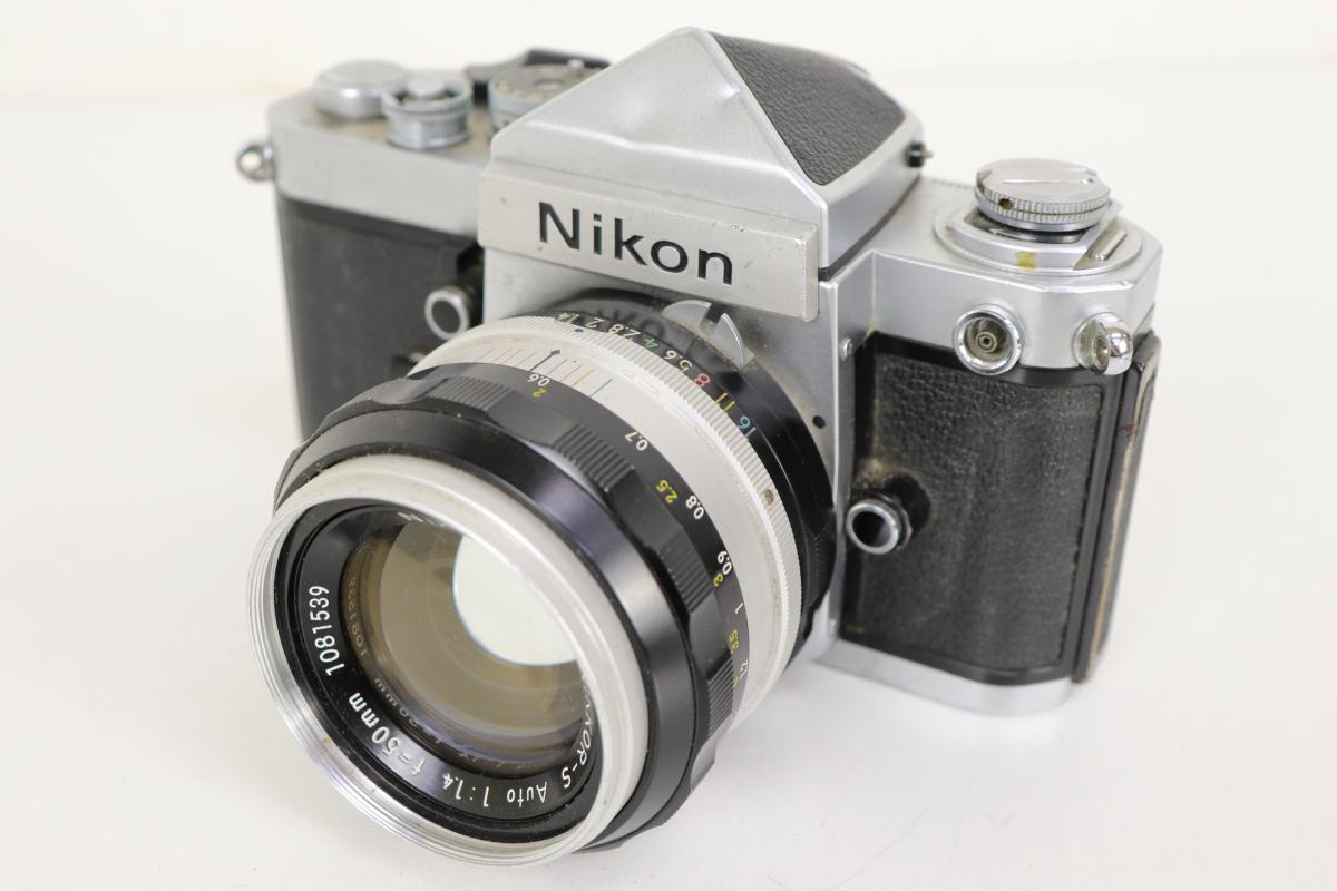 55FYX Nikon ニコン F2 一眼レフカメラ レンジファインダー フィルムカメラ シルバーボディ NIKKOR-S 1:1.4 f=50mm