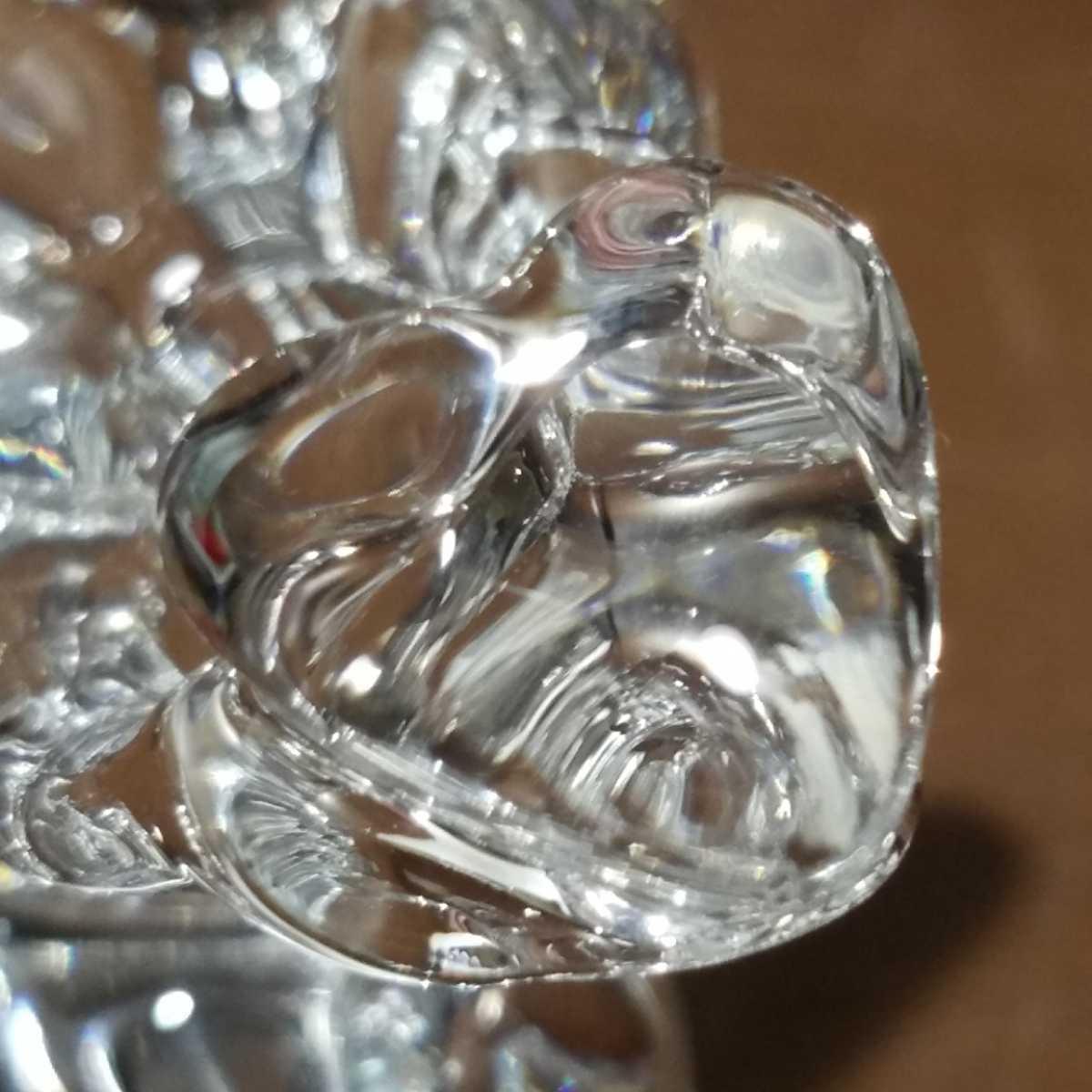 654▽同梱NG 逸品 ブランド バカラ エンジェルハート ハートを持つ天使の羽根 可愛い置き飾り物 クリスタルガラス Baccarat Angel オブジェ_画像10