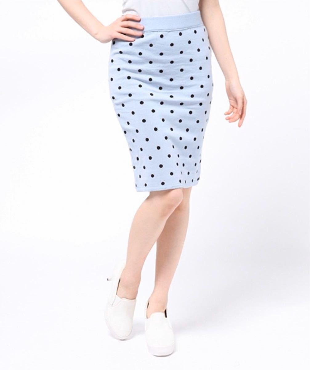 ジャガードセットアップスカート 新品未開封 春 ブルー タイトスカート フリー