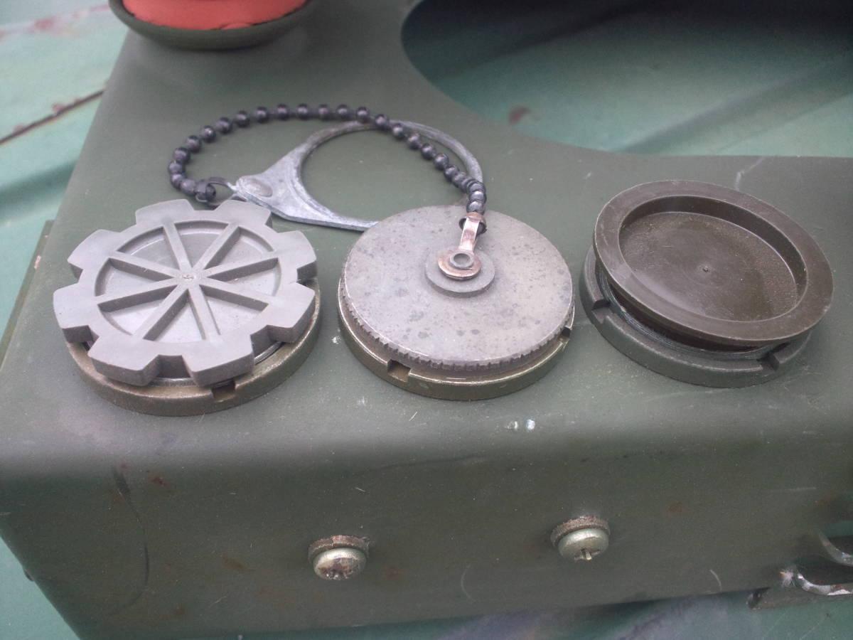 米軍 ダストキャップ VRC- 系_左:プラネジ 中:メタル 右:プラ差込