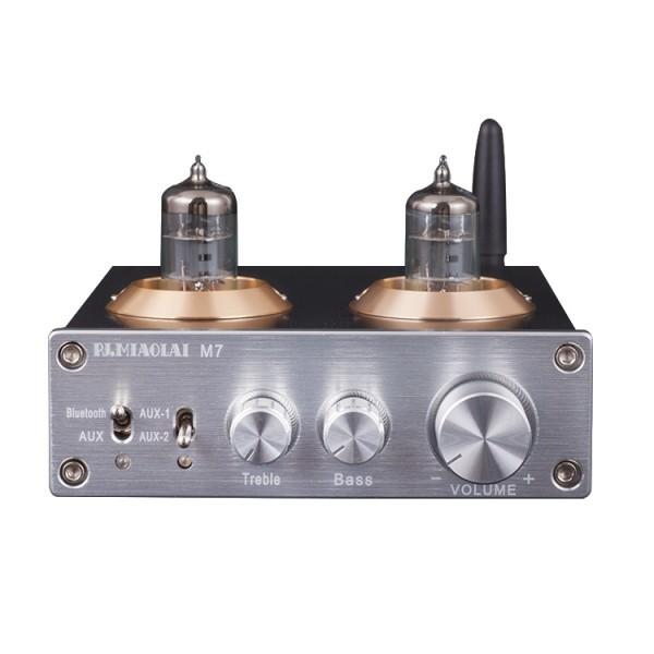 最新!高音質!真空管デジタルプリアンプ M7 bluetooth5.0搭載モデル!Bluetoothオーディオレシーバー HIFI USB _画像1