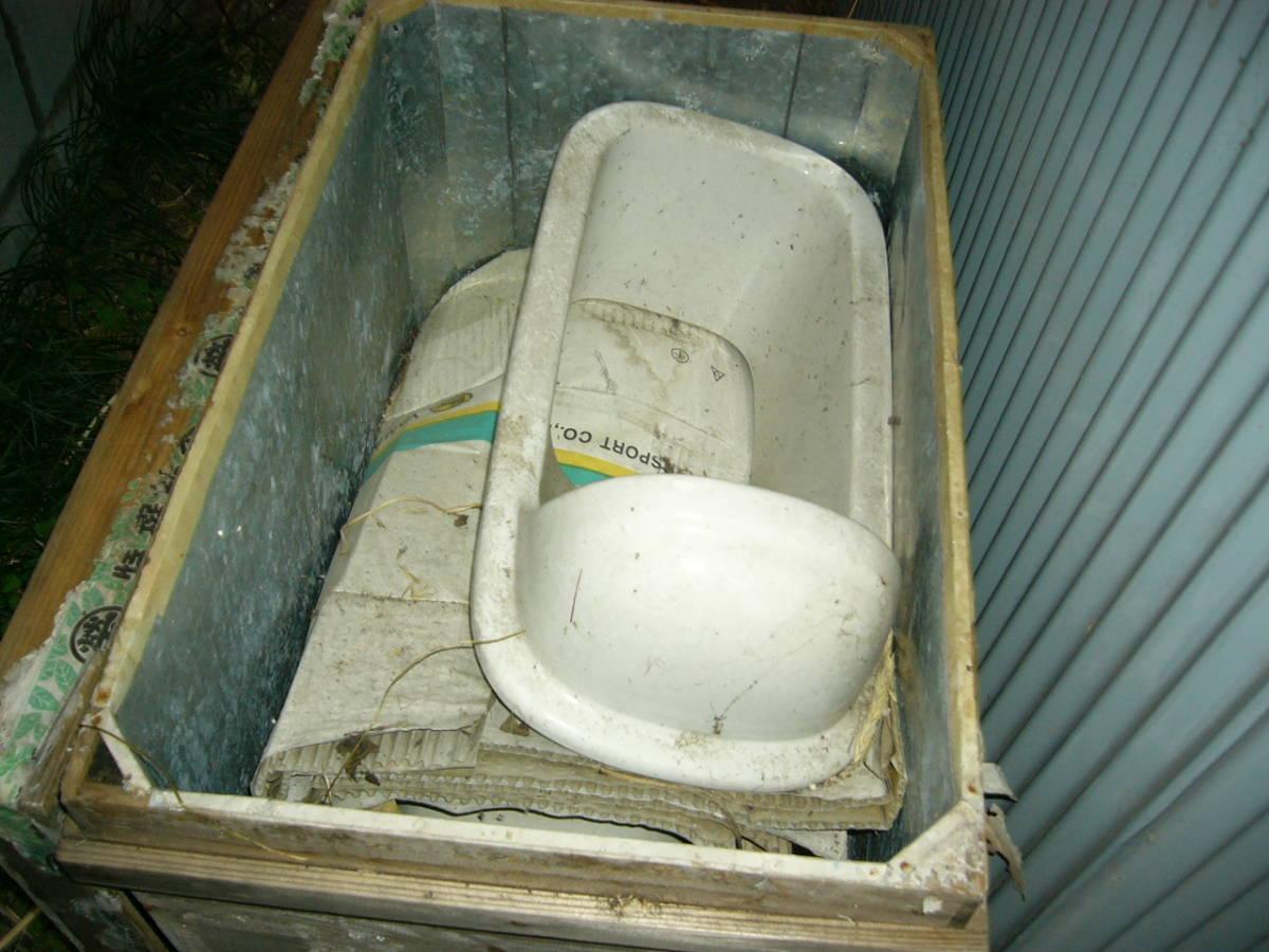 昭和38年築の家に設置してた 和式トイレ便器 骨董の価値あり ペンキを塗ればお洒落になります 昭和歴史館等で展示したい方にもどうぞ_画像1