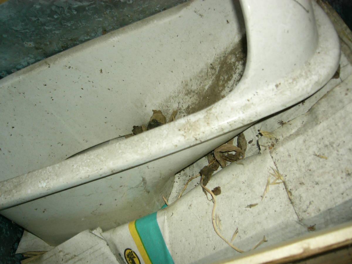昭和38年築の家に設置してた 和式トイレ便器 骨董の価値あり ペンキを塗ればお洒落になります 昭和歴史館等で展示したい方にもどうぞ_画像4