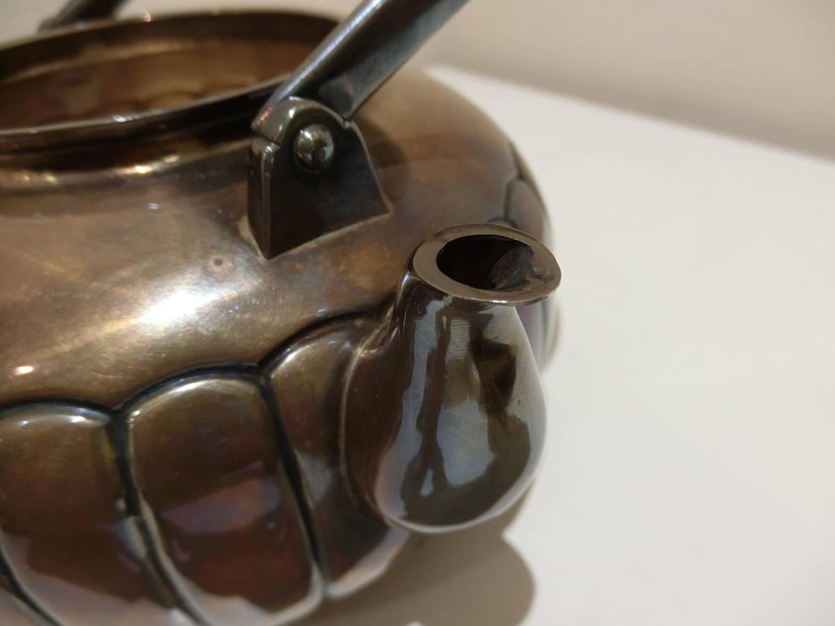 9523 【銀瓶】純銀銀瓶 髙島屋製 茶道具 湯沸 やかん 中古 骨董 時代物 371.6g 共箱有_画像6