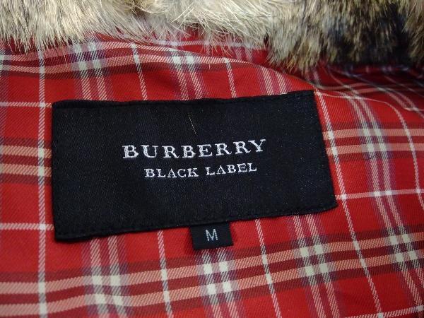 BURBERRY BLACK LABEL バーバリーブラックレーベル ダウンベスト ネイビー ファー 裏地チェック D1F15ー214ー15_画像3