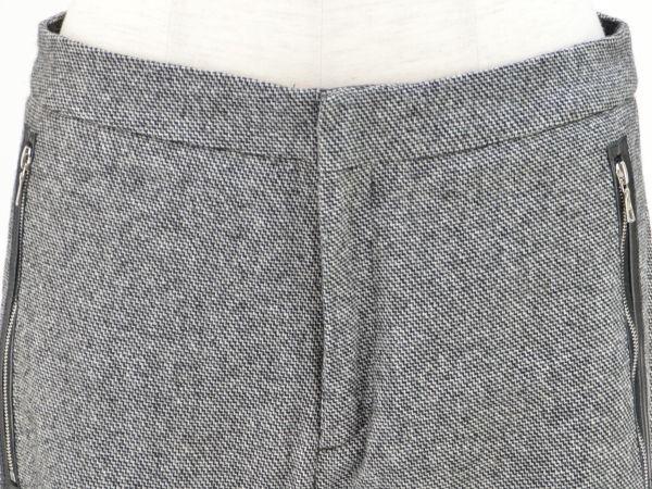 ドゥロワー Drawer ユナイテッドアローズ リブ レザーポケット パンツ 36サイズ ブラック×ホワイト レディース F-M9838_画像3