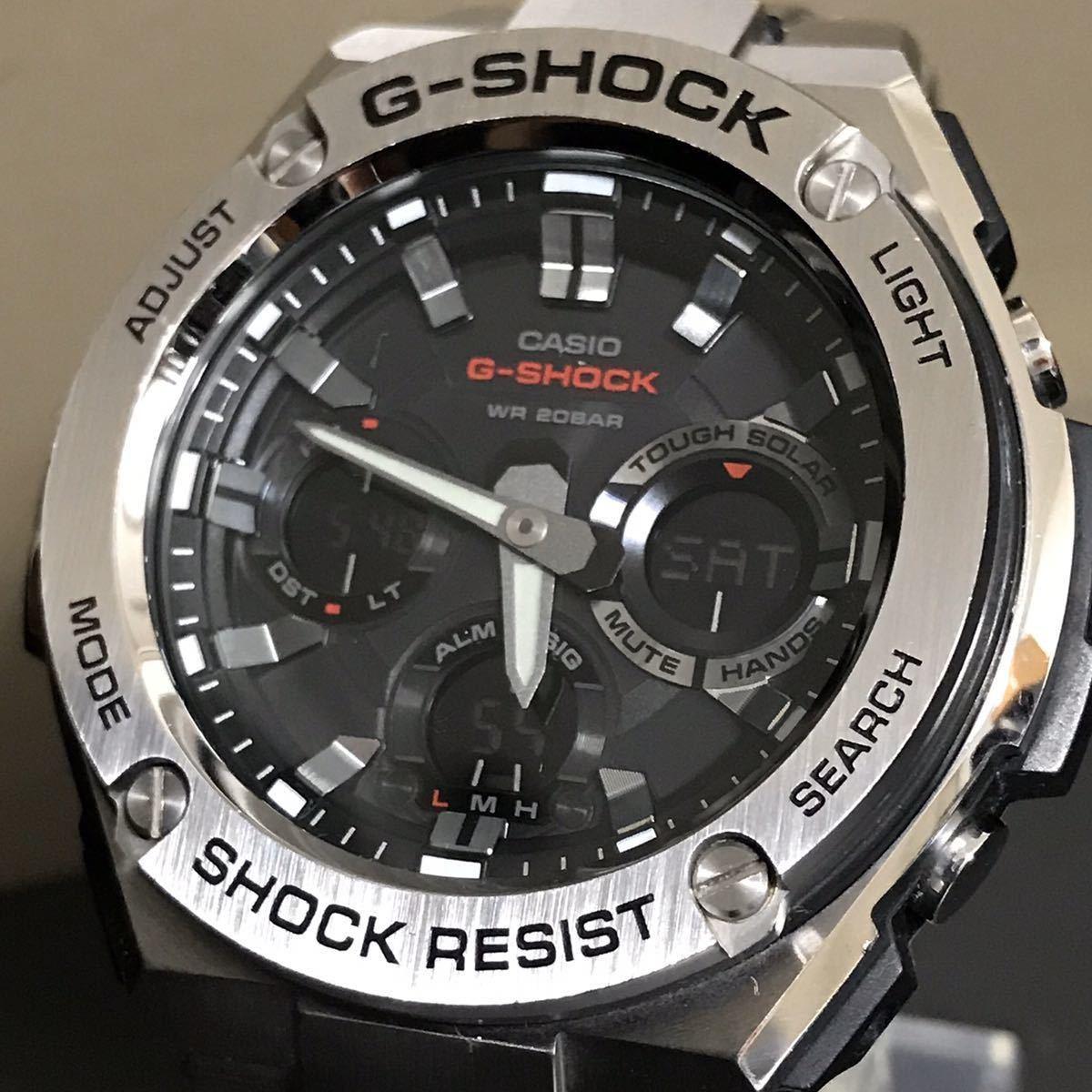 CASIO G-SHOCK GST-W110D-1AJF G-STEEL Gスチール タフソーラー 電波受信 電波ソーラー