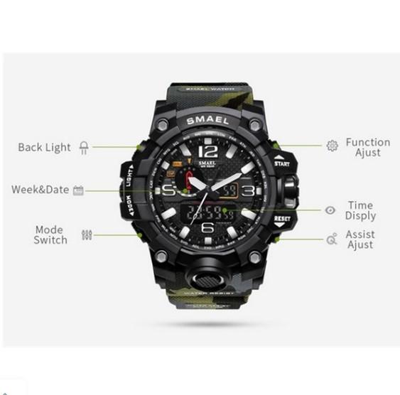 M578 SMAEL 11色スポーツウォッチ男性デジタルLED時計ミリタリーウォッチアーミーメンズ' s腕時計50M防水レロジオモントレオム_画像4