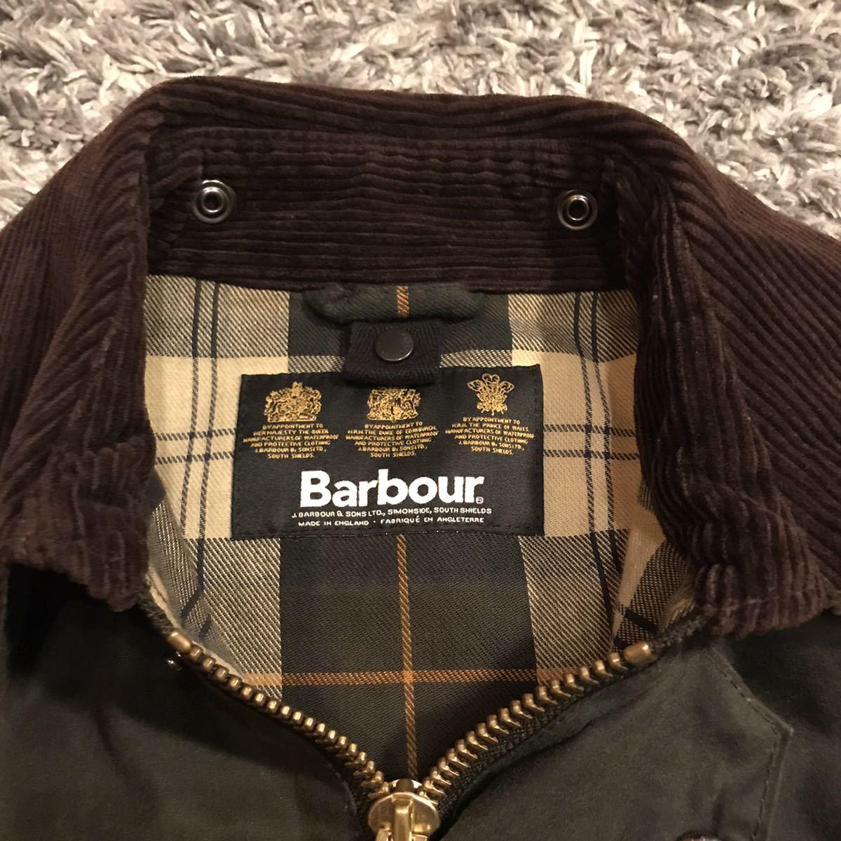 36サイズ Barbour Bedale SL バブアー ビデイル スリムフィット オイルドジャケット sage セージ 美品 オリーブ beaufort border 英国製_画像3