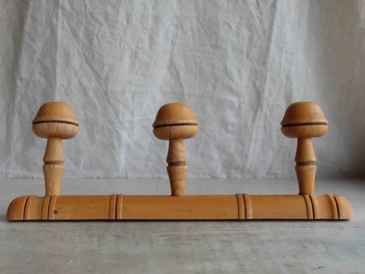 oフランスアンティーク 壁掛け コートフック ハンガー 什器 ディスプレイ フレンチ 家具 雑貨 古木 蚤の市 ウォール 帽子 ビンテージ_画像3