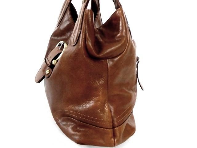 即決★DAKOTA★レザーハンドバッグ メンズ 茶 ブラウン 本革 トートバッグ 本皮 かばん 鞄 レディース バックル 手提げバッグ_画像5