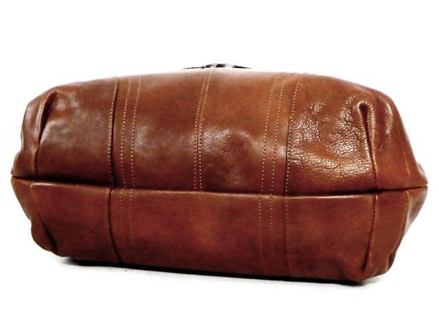 即決★DAKOTA★レザーハンドバッグ メンズ 茶 ブラウン 本革 トートバッグ 本皮 かばん 鞄 レディース バックル 手提げバッグ_画像6