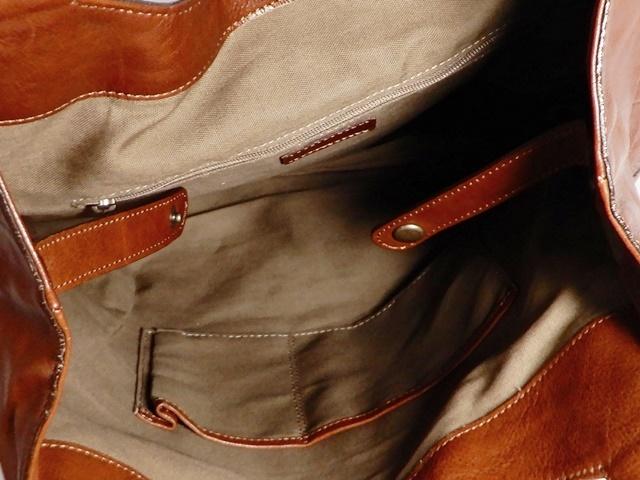 即決★DAKOTA★レザーハンドバッグ メンズ 茶 ブラウン 本革 トートバッグ 本皮 かばん 鞄 レディース バックル 手提げバッグ_画像7