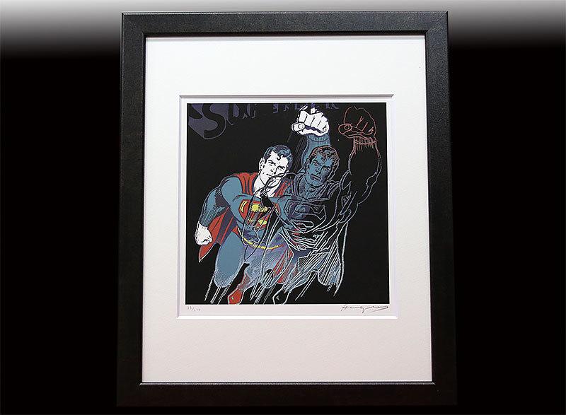 アンディ?ウォーホル 直筆サイン シルク 証明書「Superman スーパーマン 39/250」