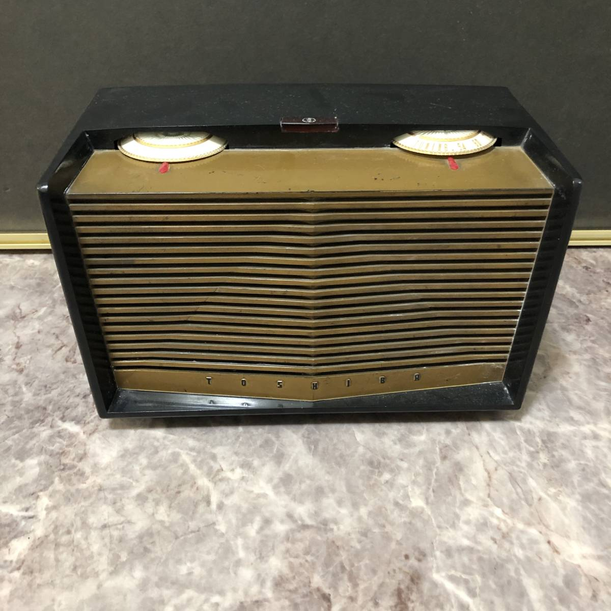 東芝 真空管ラジオ 美品 かなりあC 5LA-65 5球スーパー 1955年製 動作確認済み 昭和レトロ