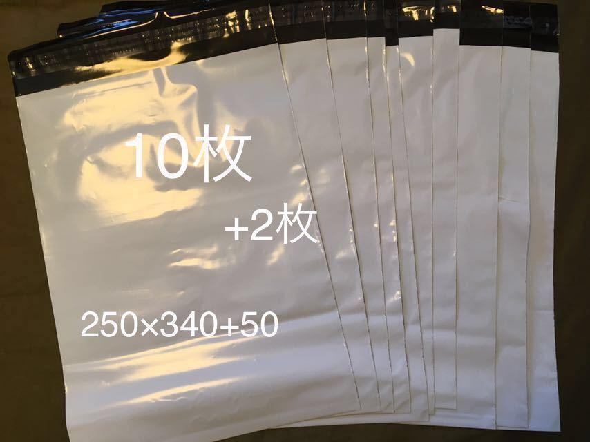 [お試し] 宅配ビニール袋 (250×340+50) 12枚 宅配袋