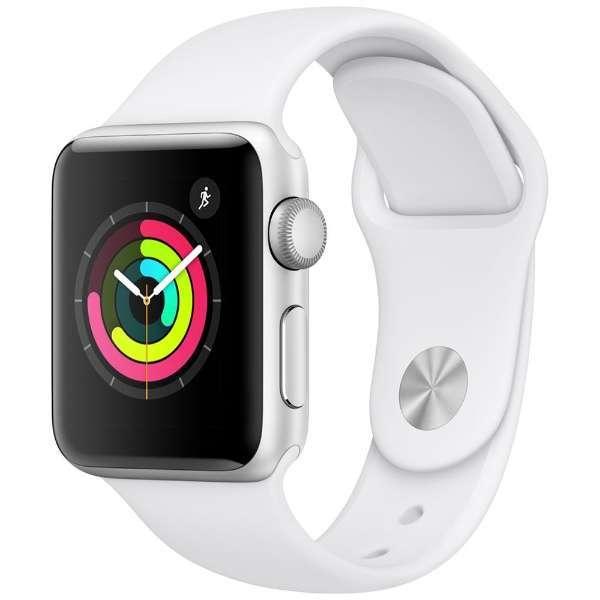 Apple Watch Series 3 GPSモデル - 38mmシルバーアルミニウムケース ホワイトスポーツバンド MTEY2J/A