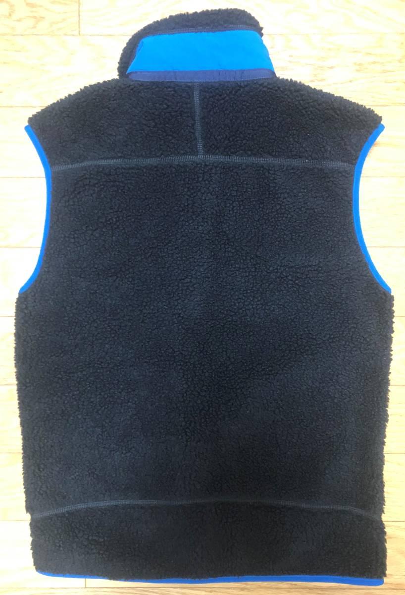 パタゴニア 2016モデル M's Classic Retro-X Vest(メンズ クラシック レトロX ベスト) S ブラック/ブルー