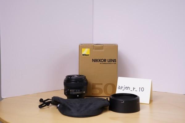 ◆◇美品 送料無料 Nikon AF-S NIKKOR 50mm f/1.8G ブラック ニコンFマウント◇◆