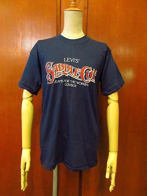 ビンテージ70's80's★DEADSTOCK Levi's アドバタイジングTシャツ 紺 Size M★200207s7-m-tsh-ot USA製デッドストックリーバイス半袖古着_画像1