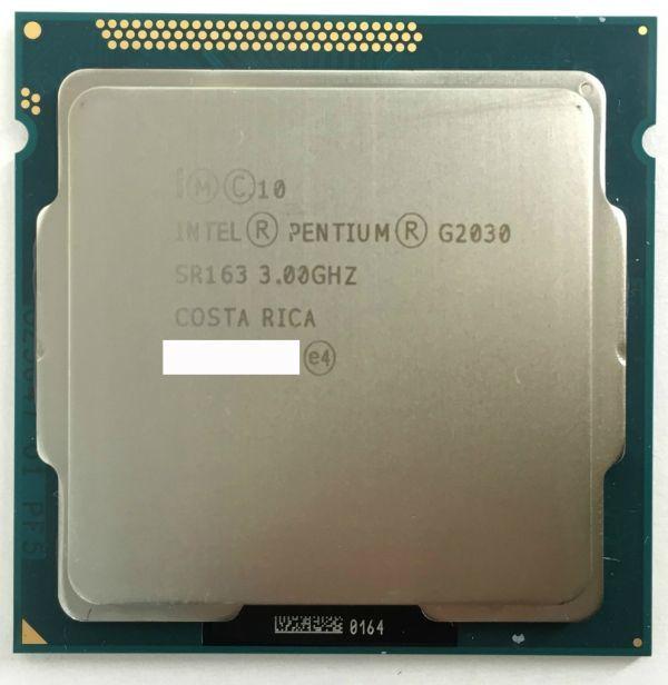 【10枚セット】★送料無料★BIOS起動確認済★デスクトップ用 CPU Intel G2030 ×1枚 SR163 3.00GHz 2コア 2スレッド ソケット FCLGA1155_画像2