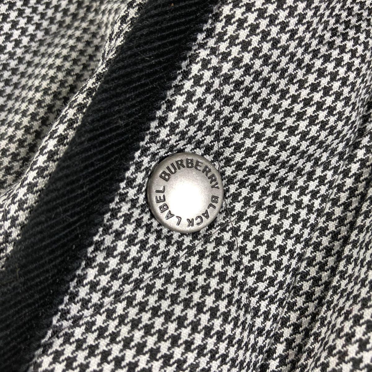 【ほぼ新品・極希少】バーバリーブラックレーベル キルティングジャケット 千鳥格子 Lサイズ BURBERRY BLACK LABEL アウター ブルゾン_画像7