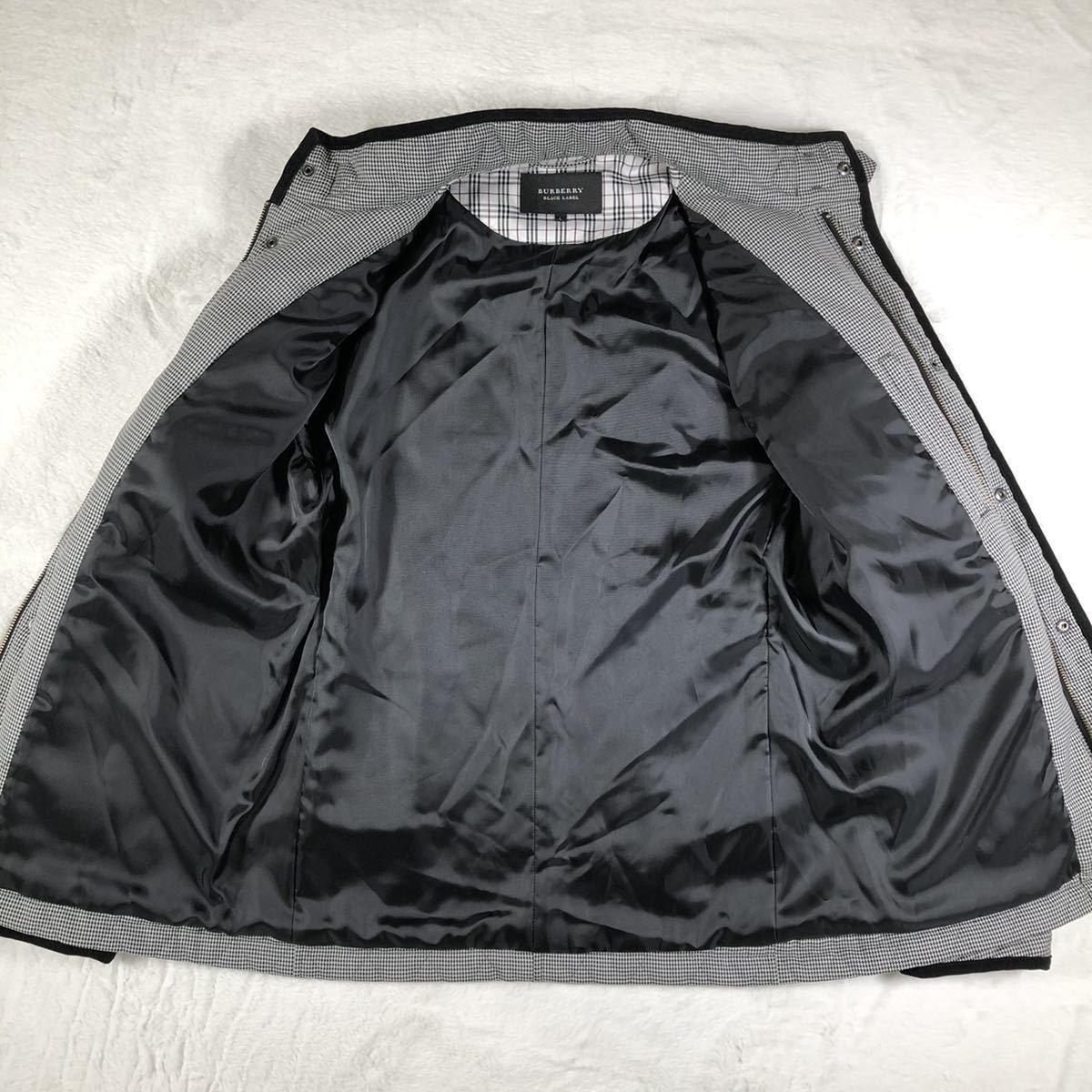 【ほぼ新品・極希少】バーバリーブラックレーベル キルティングジャケット 千鳥格子 Lサイズ BURBERRY BLACK LABEL アウター ブルゾン_画像6