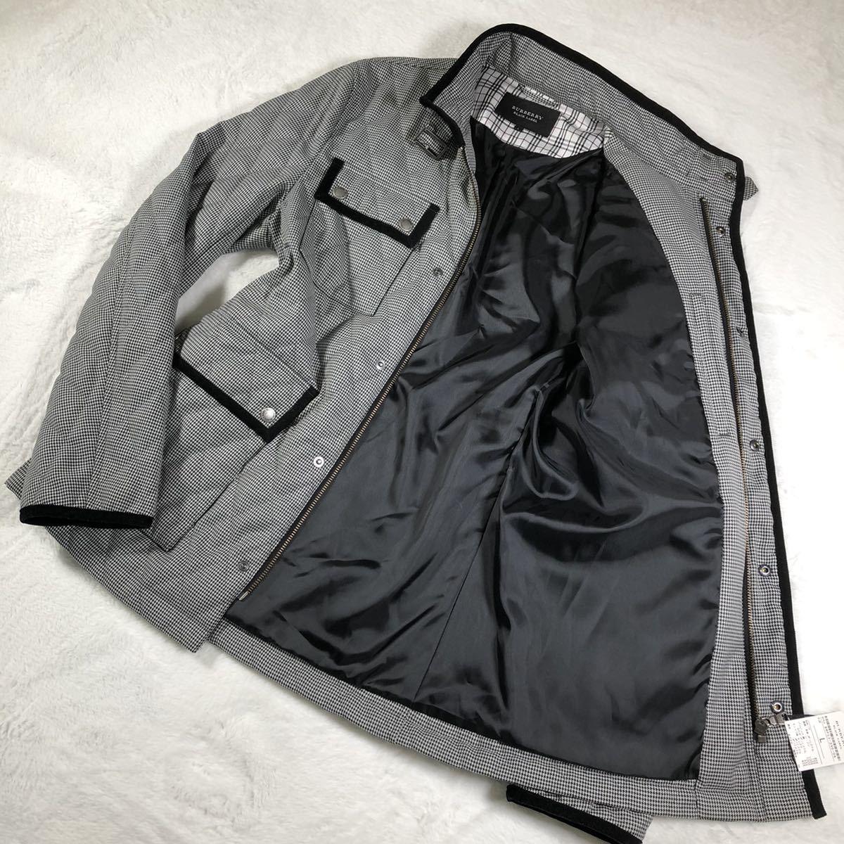 【ほぼ新品・極希少】バーバリーブラックレーベル キルティングジャケット 千鳥格子 Lサイズ BURBERRY BLACK LABEL アウター ブルゾン_画像5