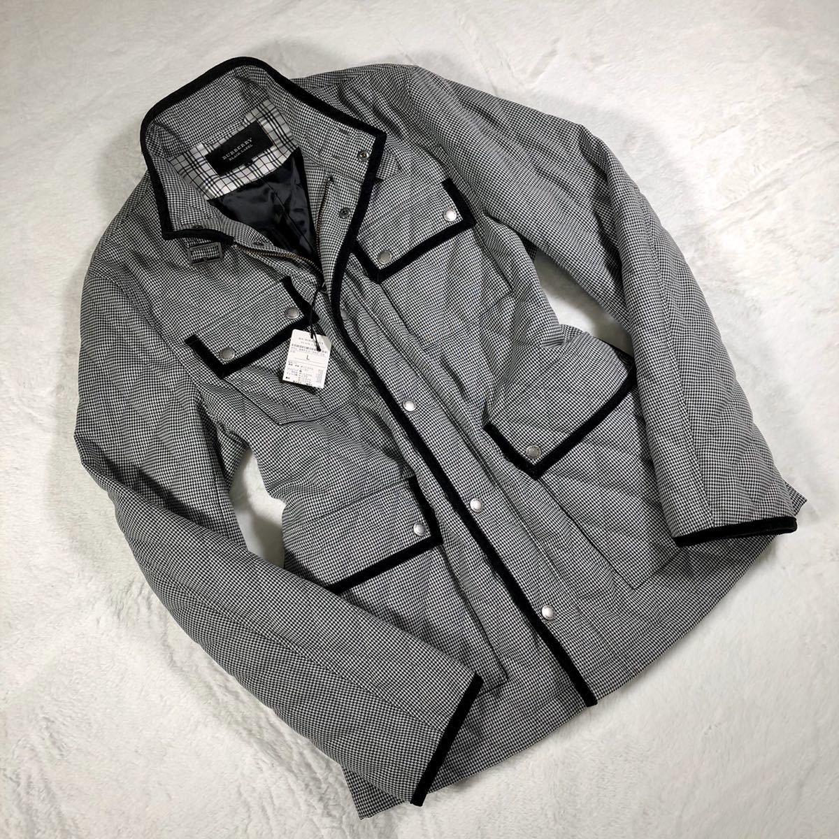 【ほぼ新品・極希少】バーバリーブラックレーベル キルティングジャケット 千鳥格子 Lサイズ BURBERRY BLACK LABEL アウター ブルゾン