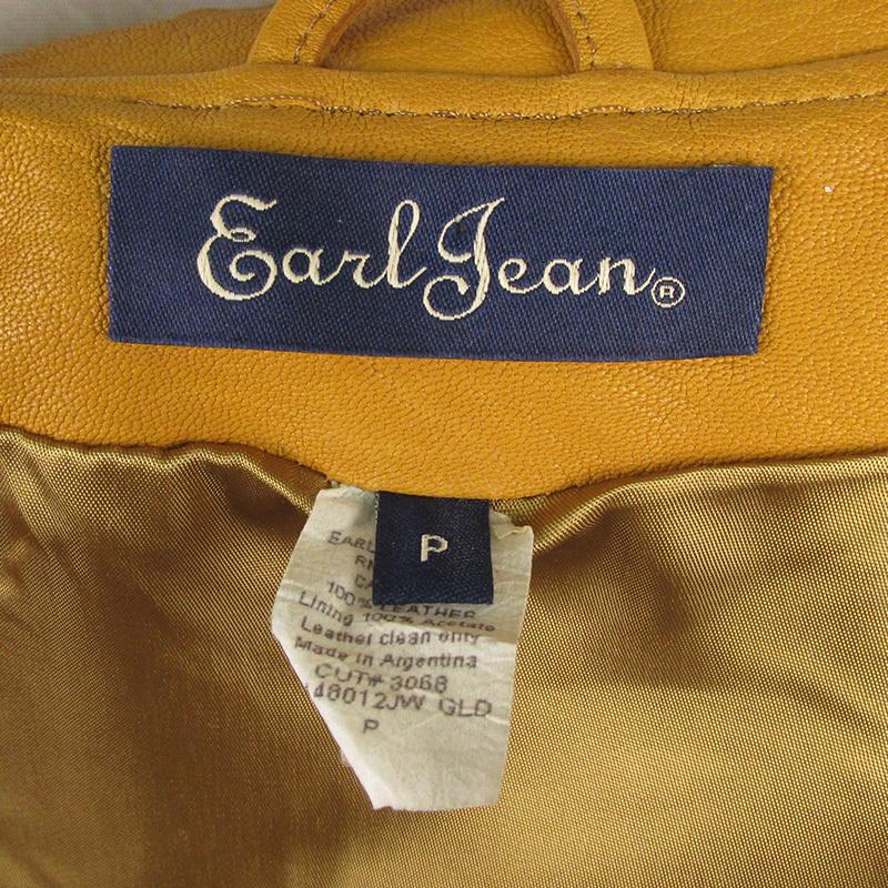 MAWKHJ13531 Earl Jean アールジーン ライダースジャケット P キャメル_画像4