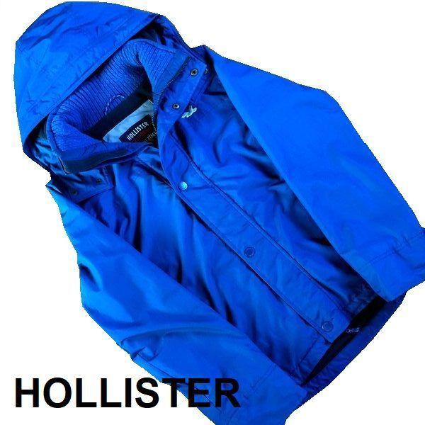 ホリスター フード付き ブルゾン Sサイズ ブルー ライナー フリース リブ