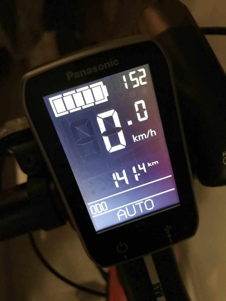 ●パナソニック BE-EXM40K [电动アシストスポーツタイプ自転车 XM1 マットバーニングリーブス 2018年モデル] 美品极上车●
