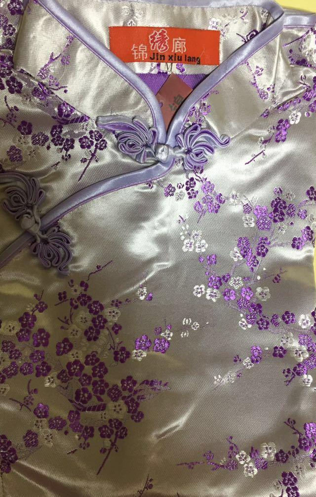 新品チャイナドレス花柄ロング_画像1