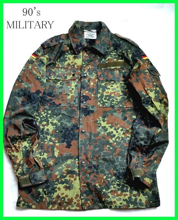 #560☆KOHLER GMBH☆フィールドシャツ/実物/XL/99年製/迷彩色/カモフラ/ヴィンテージ/M51/M65/ドイツ軍/軍物/ミリタリー/古着/売り切り