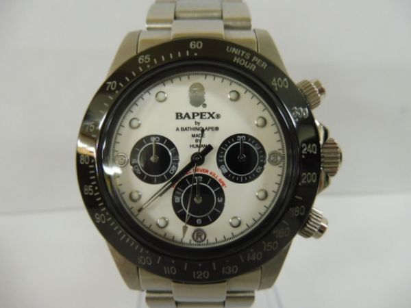 A BATHING APE アベイシングエイプ BAPEX HUMAN 自動巻き クロノグラフ メンズ 腕時計