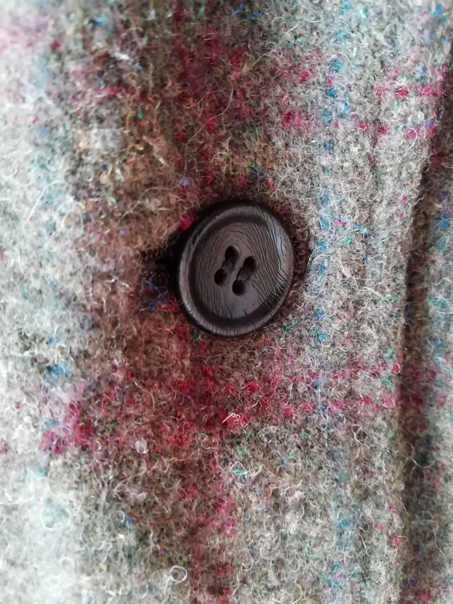 comme des garcons homme 縮絨ウール ネップ ツイード 木製ボタン ジャケット S AD2004 コムデギャルソンオム ヴィンテージ アーカイブ初期_画像6