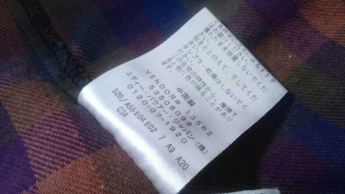 M【EDDIE BAUER/エディーバウアー】LADIES/レディース 女性用 トップス チェック柄 ポケット付き ワンピース アウトドア タウン パープル系