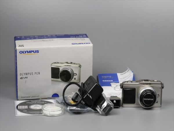 1円~極上美品 OLYMPUS E-P1 ボディ シルバー オリンパス ミラーレスカメラ マイクロフォーサーズ PEN
