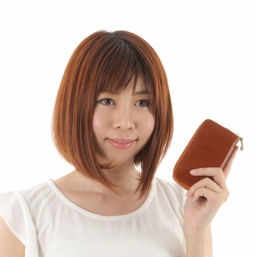 キーケース 父の日 本革 スマートキー パスケース 定期入れ レザー 6連リング ファスナー おしゃれ かわいい 多機能 ナスカン (レッド)_画像9